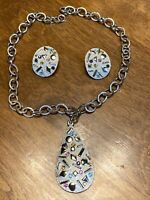 SULTANA Vintage 1959 Sarah Coventry Confetti Necklace Clip Earrings Set A1 Cond.