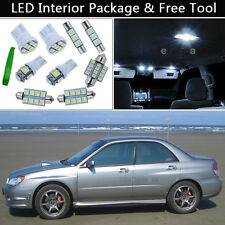 8PCS Xenon White LED Interior Lights Package kit Fit 2002-2007 Subaru Impreza J1