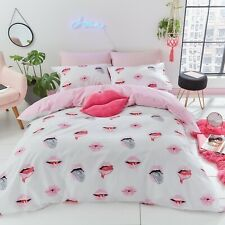 SassyB Lip Service Teenage Duvet Cover Bedding Set Or Fitted Sheet Pink