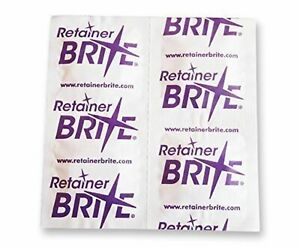 Retainer Brite Cleaning Tablets With Denture Brush & Retainer Case Box