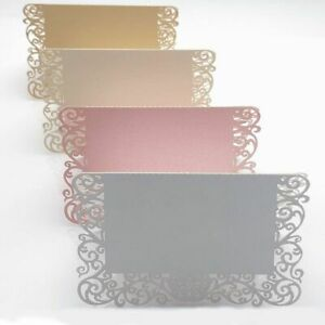 50pcs Pearlescent Lace Name Place Cards Wedding Decoration Table Decor Table