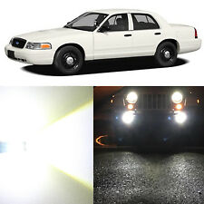 Alla Lighting Fog Light 9040 Super White LED Bulbs for 02-05 Ford Crown Victoria