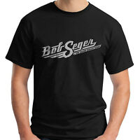 BOB SEGER AND SILVER BULLET LOGO BLACK T-SHIRT SIZE S-5XL