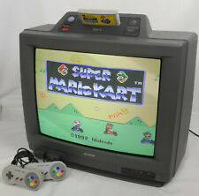 SHARP SF-1 Console System Super Famicom Color TV 21inch 21G-SF1 Tested 378078