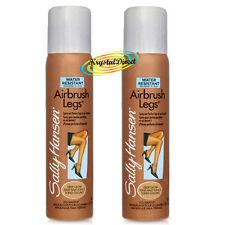 2x Sally Hansen Airbrush Air Brush Legs Spray DEEP GLOW 75ml