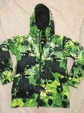 Nike Men's Kampai Green Neon Tie Dye Print 6.0 Snowboarding Jacket Ski Parka L