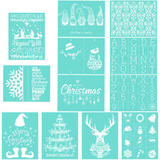 Christmas Silk Screen Printing Stencil Snowflake Elk Transfer Bag Wood Craft DIY