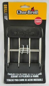 """Charbroil """"Stainless Steel Meat Claws"""" Barbecue Tools, Interlocking Tongs, New"""