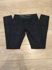 All Saints Snake Skin Estelle Skinny Stretch Jeans Black AW07 W27 8 UK 31L Zips