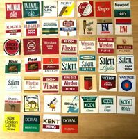 Lot of 46  Vintage Cigarette Vending Machine Store Label Tags 2 x 2 Inches