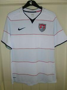 USA AMERICA NIKE HOME FOOTBALL SHIRT - 2008/09 - LARGE ADULT - K118