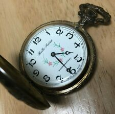 Vintage Belle Suisse Men Half-Hunter Swiss Flower Hand-Winding Pocket Watch Hour