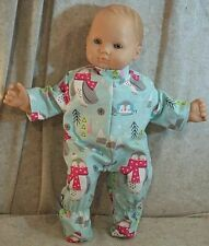 """Doll Clothes Baby Made 2 Fit American Girl 15"""" inch Bitty Pajamas Penguins Scarf"""