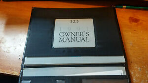 MAZDA 323,1991 OWNERS MANUAL.FREE SHIPPING