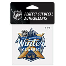 "2018 NHL Winter Classic Perfect Cut Color Decal 4"" x 4"""