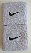 "Nike Swoosh Wristbands 3"" Sport Grey/Black Mens Women's Osfm"