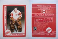 2015 SCA Peter McDuffe rare Detroit Red Wings goalie never issued produced #d/10