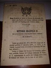 REGIO DECRETO 1867com CARUNCHIO sez elettorale VASTO citato CELENZA sul TRIGNO
