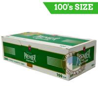 Premier menthol 100s cigarette tubes 5 pack & bonus case