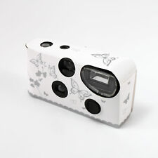 Disposable Camera with Flash White and Silver Butterfly 1,2,5,8 and 10 Packs