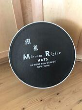 Vintage Miriam Rigler Hat Box - circa late 1960s Large!