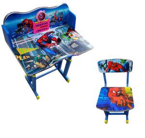TABLE+CHAIR STORAGE SET SPIDER MAN KIDS CHILDREN DURABLE PLAYROOM FURNITURE