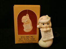 Precious Moments Ornaments-Puppy In Stocking-10'th Anniversary Limited Edition