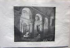 1838 SAINT MENOUX Chapelle souterraine Émile Sagot Achille Allier Desrosiers