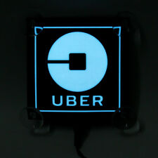 For Car Uber Logo Blue  LED Flashing Bright Glow Sticker Light Sign Intelligent