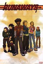 "MARVEL COMICS POSTER~Runaways Adrian Alphona Entire Cast 2005 Original 24x36""~"