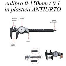 CALIBRO A CORSOIO CINQUANTESIMALE DI PRECISIONE 0/150mm CON QUADRANTE A OROLOGIO