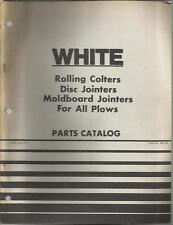 WHITE ROLLING COLTERS, DISC JOINTERS, MOLDBOARD JOINTERS PARTS CATALOG
