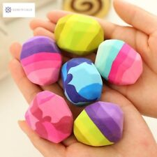 Colorful Kawaii Stone Shape Eraser Geese In Soft Rubber Erasers Irregular Shape