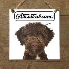 Lagotto romagnolo MOD 2 Attenti al cane Targa cane cartello PIASTRELLA