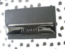 Black Patent Flap Over Purse Wallet Clutch Long Card Holder Case Carlo Purse
