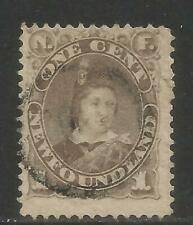 Newfoundland 1880-96 Prince of Wales 1c gray brown--Attractive Topical (42) used
