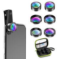 6 in 1 Cell Phone Camera Lens Clip Kits Fisheye Wide Angle Macro  Telephoto