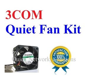Quiet version Slient Fan Kit for 3COM 4400 only Low Noise Best for HomeNetworK