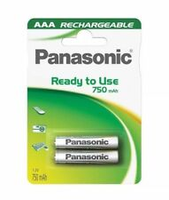 2 X Panasonic Ready to Use 750mah AAA Rechargeable Batteries