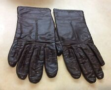 Vtg Fownes Leather Gloves Brown 8� Long Women's Size 7
