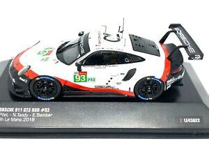1:43 scale IXO Porsche 911 GT3 RSR - Pilet Tandy & Bamber Le Mans 2018 Model Car
