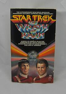 Star Trek The Wraith Of Khan by Vonda N McIntyre 1st printing Jul 1982
