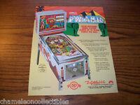 PYRAMID By GOTTLIEB 1977 ORIGINAL NOS EM PINBALL MACHINE SALES FLYER BROCHURE