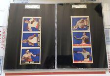 2-Leaf Boxing Panels SGC A Fitzsimmons, Baer, Willard, Schmeling