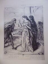 gravure in folio:  Illustration pour OTHELLO (1844) par THEODORE CHASSERIAU