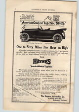 1914 Paper Ad Car Auto Automobile Haynes America's Greates Light Six Kokomo IN