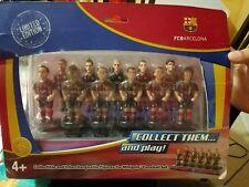 FC BARCELON LIMITED FOOSBAL SET FOOSBALL SET FIGURES COLLECT. LIMITED EDIT! USED