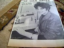 67-6 ephemera 1964 picture mary bathurst broadstairs singer sewing co