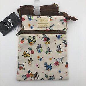 Loungefly Disney Dogs & Cats - Floral Crossbody Purse Passport Bag