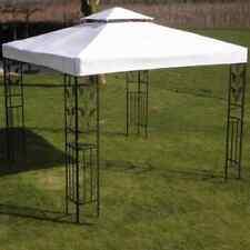 vidaXL Toit de Tonnelle Blanc 3x3 m Tissu Pavillon Tente de Réception Jardin